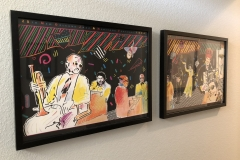 New Orleans jazz posters in Commerce City home