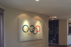 original silk Olympic flag from 1936 Berlin summer games