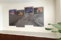 Corporate HQ, mining company-4 panels with attached pictures