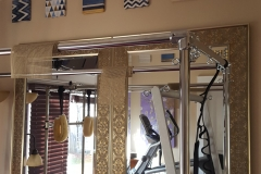 Mirrors in residential workout room